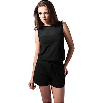 Urban Classics Damen Jumpsuit Tech Mesh Hot