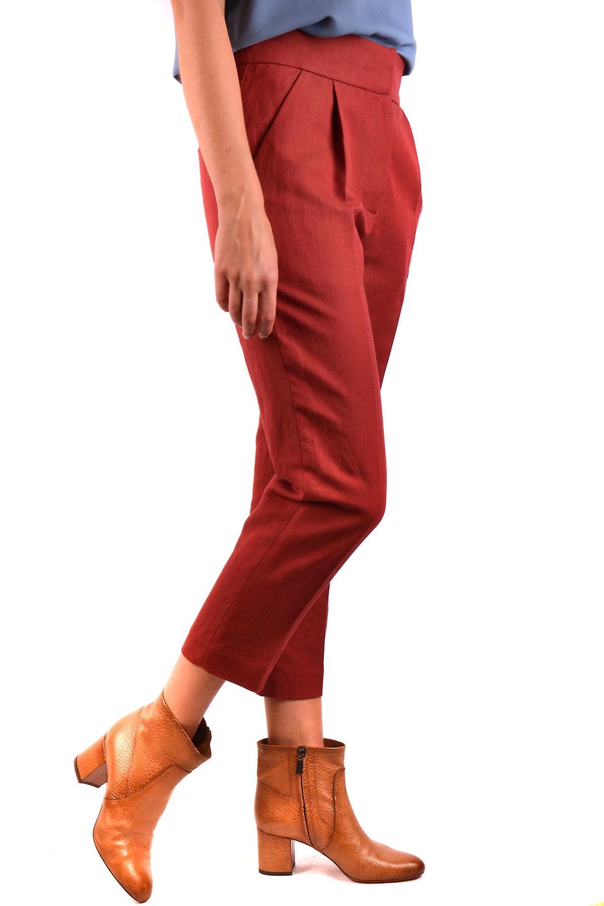 Brunello Cucinelli Ezbc002052 Pantalons en coton rouge AndXeL