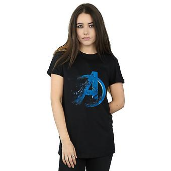Marvel Women's Avengers Endgame Dusted Logo Boyfriend Fit T-Shirt