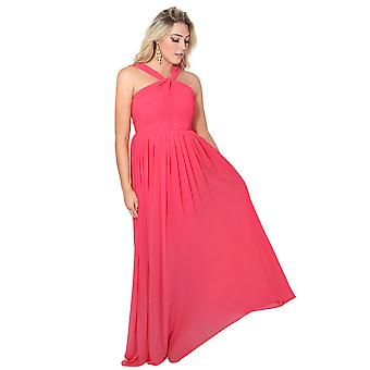 KRISP Shawl Back Chiffon Maxi Dress