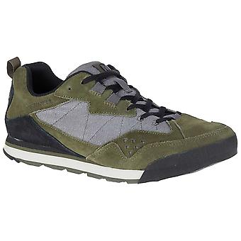 Merrell Dusty Olive Mens Burnt Rock Tura Denim Low Walking Shoes