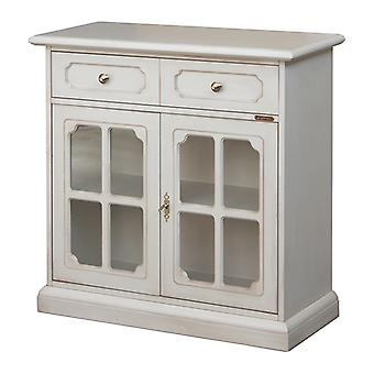 Cupboard 2 Doors Showcase with grid 1 drawer