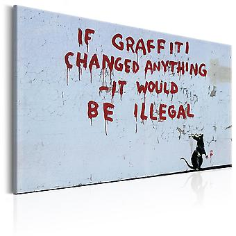 Canvas Print - If Graffiti Changed Anything by Banksy
