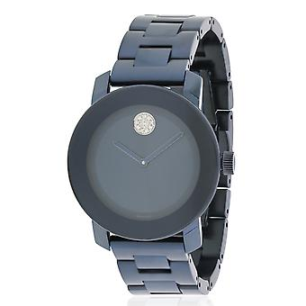 Movado Bold Blue Stainless Steel Unisex Watch 3600388