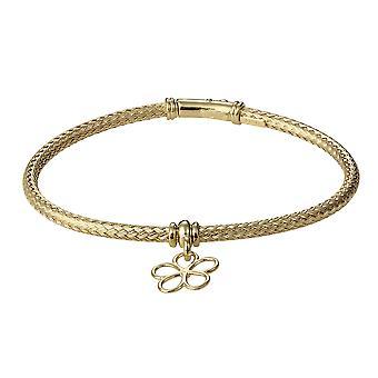 Orphelia 925 Silver Bracelet Gold Color Zirconium Flower