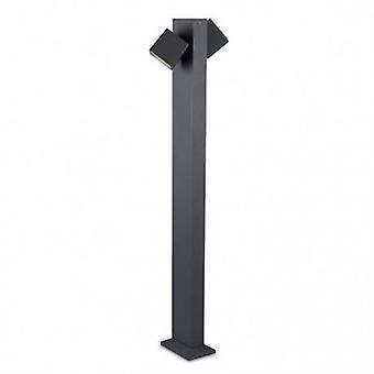 Led 2 Light Outdoor Bollard Light Urban Grey Ip65