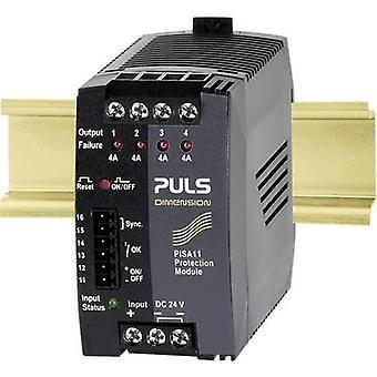 PULS DIMENSION PISA11.404 Zabezpieczenie przepięcia/przepięcia 24 V DC 3.7 A 4 x