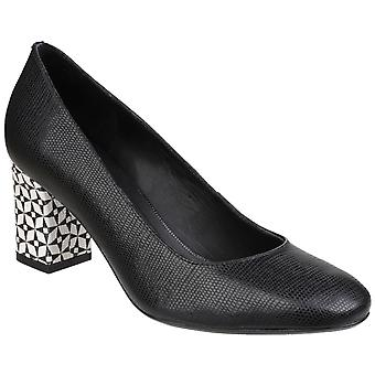 Riva Womens Otranto Printed Leather Slip on Court Shoe Black