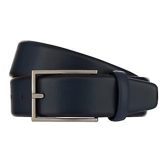 MONTI BORDEAUX Belt Men's Belt Leather Belt Blue 8138
