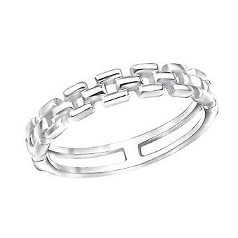 Chain - 925 Sterling Silver Plain Rings - W30389X