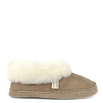 Shepherd of Sweden Emmy Stone And White Sheepskin Slipper Boot