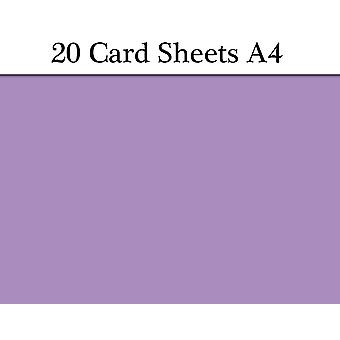 20 Purple A4 Card Sheets for Crafts | Coloured Card for Crafts