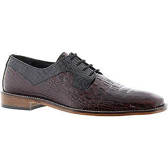 STACY ADAMS Garelli Men's Oxford 10 2E US Burgundy-Black