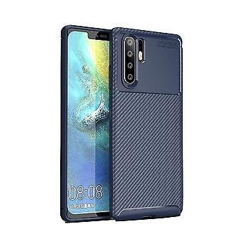 Huawei P30 Pro Case Carbon Inlay Back Shell Navy Blue