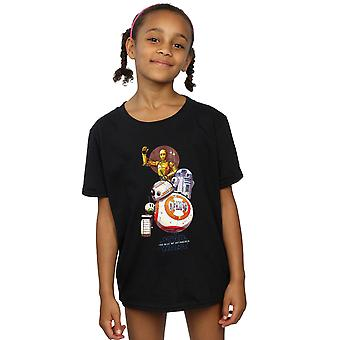 Star Wars The Rise Of Skywalker Droids Illustration Girls T-Shirt