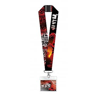 Lanyard - Godzilla - Red & Black w/Deluxe Card Holder New 75002