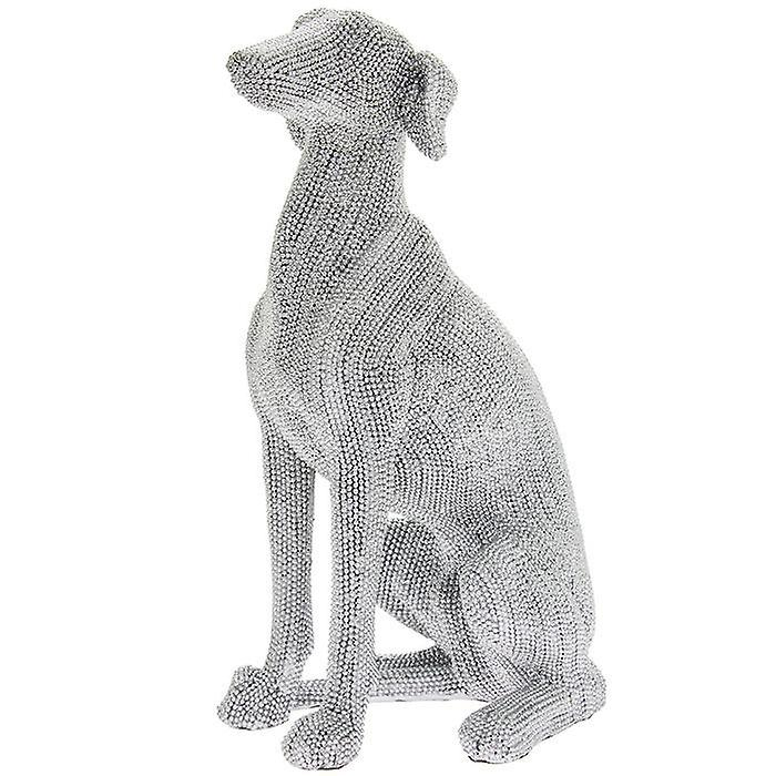 Sitting Diamante Greyhound Dog Figurine 29cm