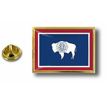 Pins Pin Badge Pin's Metal  Avec Pince Papillon Drapeau Etats USA Wyoming