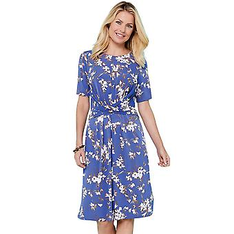 Amber Wrapover Front Print Dress