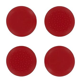 Tpu protective analogue thumb grip stick caps for microsoft xbox one- 4 pack red