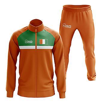 العاج ساحل العاج مفهوم كرة القدم Tracksuit (البرتقالي)