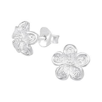 Цветок - 925 стерлингового серебра кубического циркония уха шпильки - W20807x
