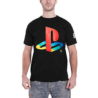 Playstation T Shirt Classic Logo And Colors new Official Mens Black
