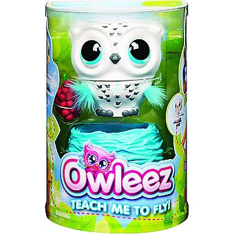 Owleez Flying Baby Owl Interactive Toy with Lights and Sounds for Children Age 6+ 6046148 White