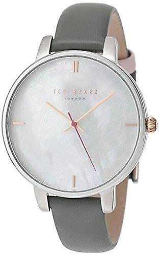 Ted Baker Kate Stainless Steel Case Grey Leather Strap Ladies Watch TE15162002 38mm