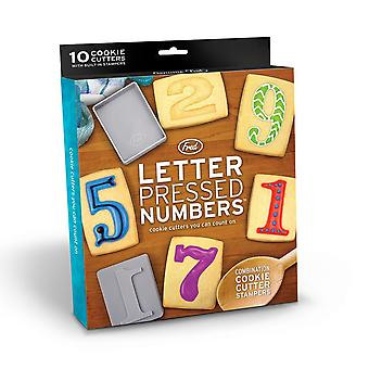 Letter Pressed Numbers - Cookie Cutters You Can Count On