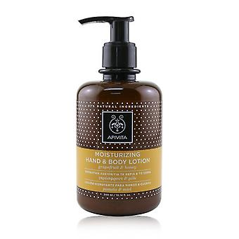Apivita Moisturizing Hand & Body Lotion With Grapefruit & Honey - 300ml/10.14oz