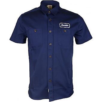 Franklin & Marshall Mf454 Gabardine Short Sleeve Navy Shirt