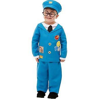 Postbote Pat Kostüm Kind blau