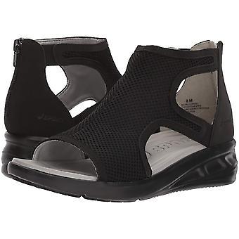 Jambu Womens Nadine Fabric Open Toe Casual Slide Sandals