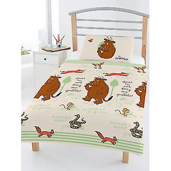 The Gruffalo Woodland 4 in 1 Junior Bedding Bundle Set (Duvet and