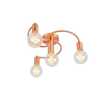 QAZQA Art-Deco-Lampe 4 Kupfer - Facil Decke