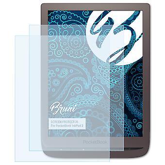 بروني 2x شاشة حامي متوافق مع PocketBook InkPad 3 فيلم واقية