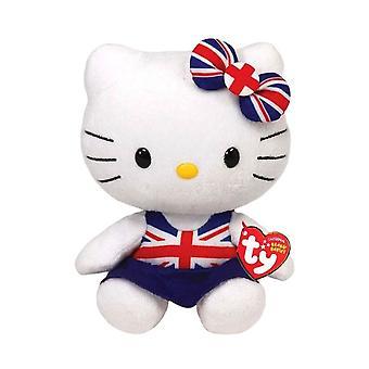 Hello Kitty Union Jack Dress TY Beanie Plush Toy