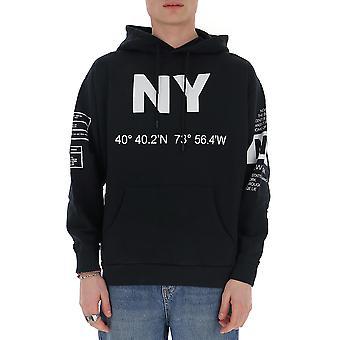 Buscemi Bms20226 Men's Black Cotton Sweatshirt