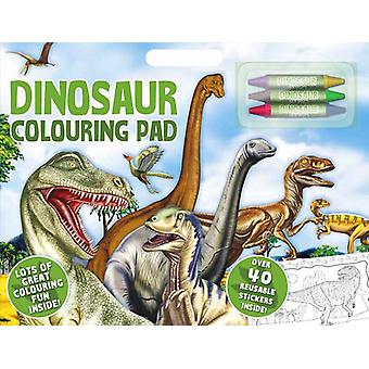 Dinosaur Large A3 Coloring Book Stickers & Crayons
