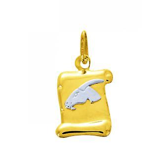 M daille Sign ocapricórnio Ouro 375/1000 bicolor (9K)