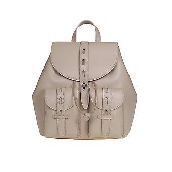Furla 1056801 Women's Beige Leather Backpack