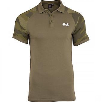 Hachura Mens Polo camisa Crosshatch Camo algodão T camisa manga curta Casual topo-de-colar
