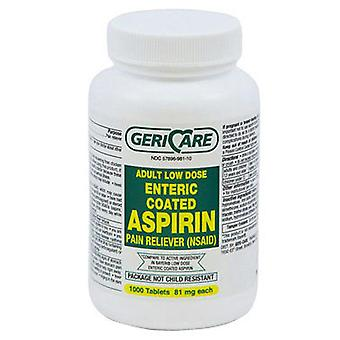 Gericare adult low strength aspirin, 81 mg, tablets, 1000 ea