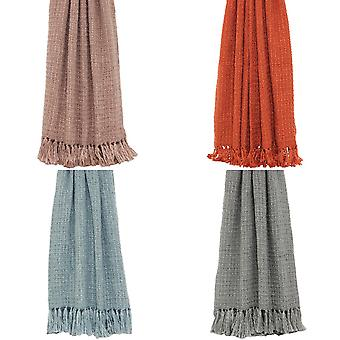 Riva Home Boden Knitted Tassled Throw