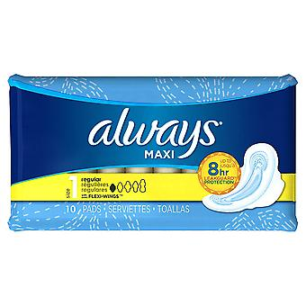 Always Maxi Flexi-Wings: 10 Regular Pads