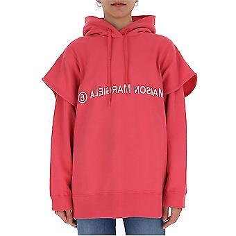 Mm6 Maison Margiela S52gu0111s25409251 Women's Pink Cotton Sweatshirt
