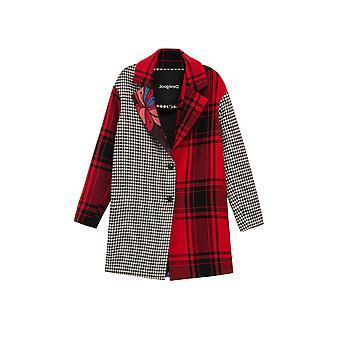 Desigual Femmes-apos;s Londres Tartan et Check Relaxed Coat