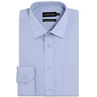 DOUBLE TWO Double Two Plain Long Sleeve Formal Shirt