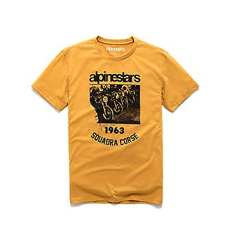 Alpinestars Crew Premium Short Sleeve T-Shirt in Mustard